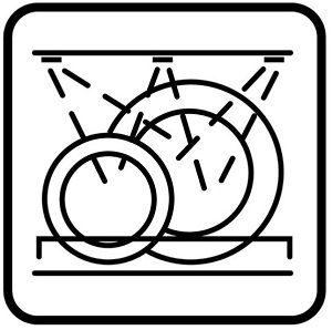 Spülmaschinengeeignet Symbol